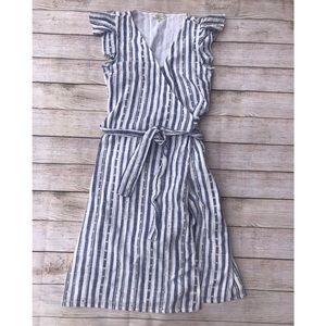 NWOT Lucky Brand Striped Wrap Dress